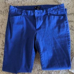Royal blue slim city GAP pants